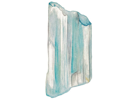 Drawing of an aquamarine crystal