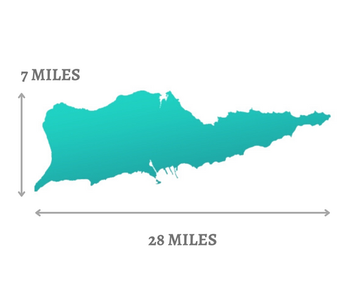 St. Croix Map with Miles