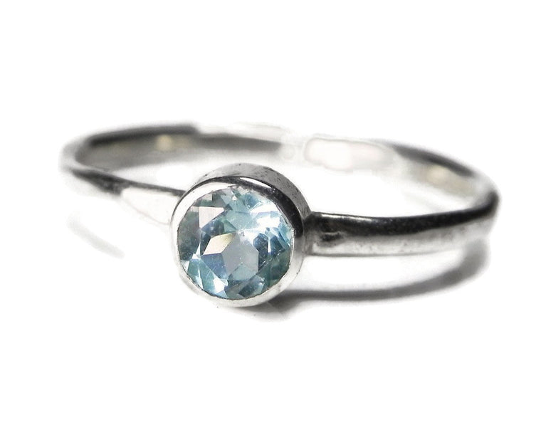 Sky Blue Topaz Minimalist Gemstone Ring