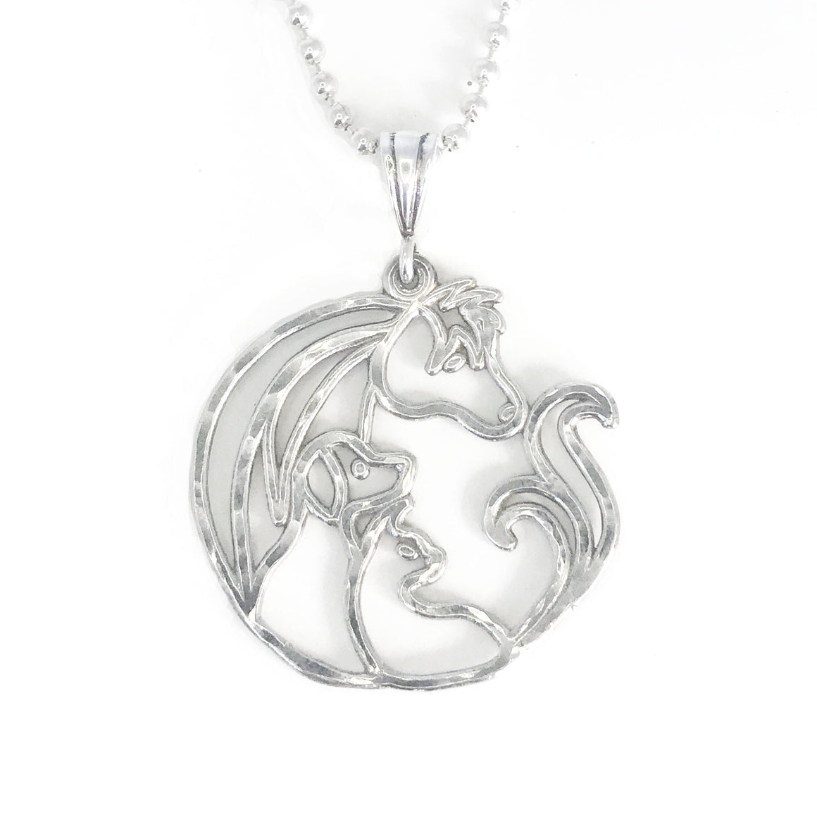 Animal Jam Large Pendant with Silver Ball Chain