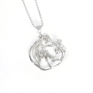 Animal Jam Small Pendant with Silver Ball Chain