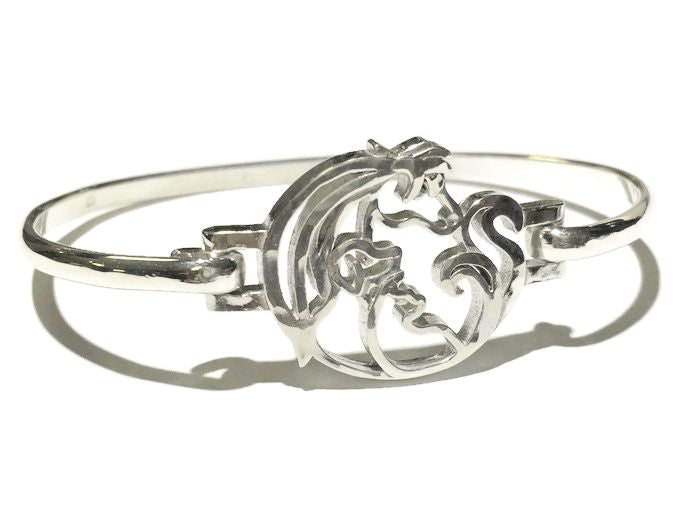 Animal Jam Silver Latching Bangle Bracelet