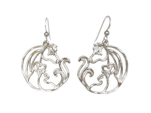 Animal Jam Silver Earrings Large
