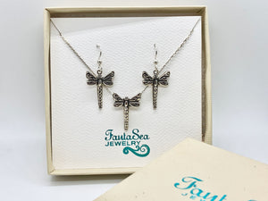 Dragonfly Earring & Necklace Gift Set