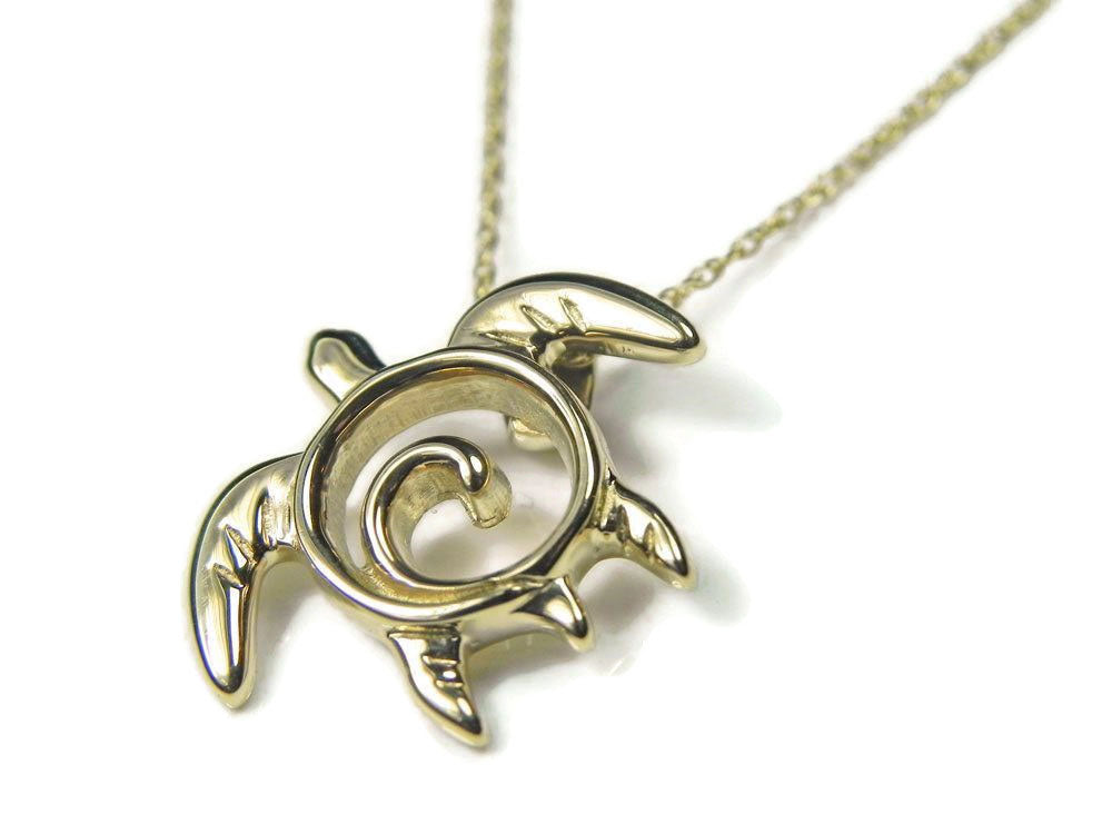 Gold swirl turtle totem pendant necklace fantasea stx gold swirl turtle totem pendant necklace aloadofball Choice Image