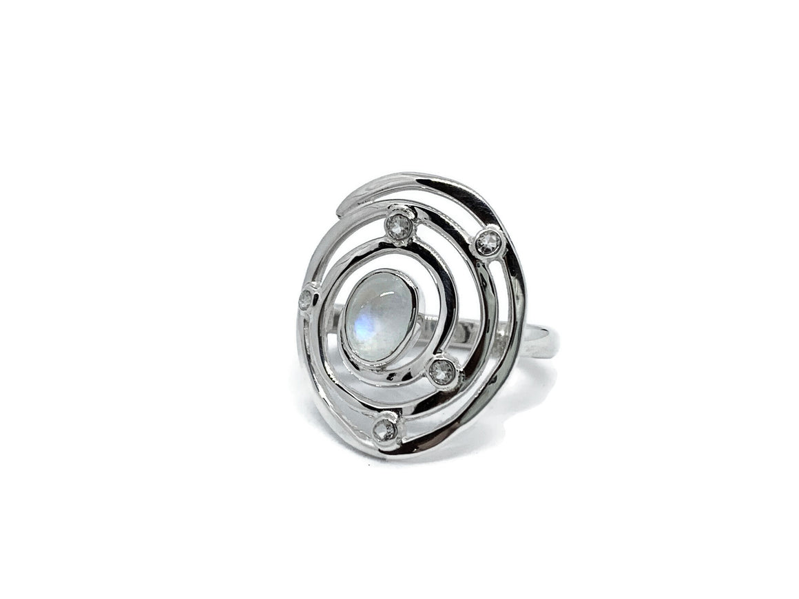 Eye of the Storm Ring Moonstone Sterling Silver