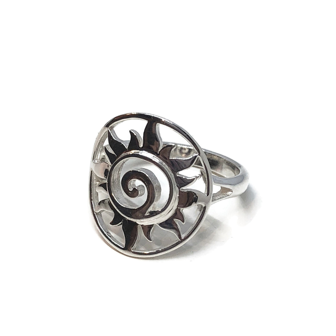 Sun Swirl Ring Sterling Silver