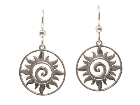 Silver Sun Earrings