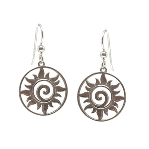 Sun Swirl Earrings Sterling Silver