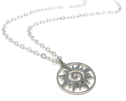 Silver Sun Necklace