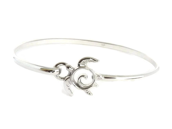 Sea Turtle Hook Bracelet Sterling Silver