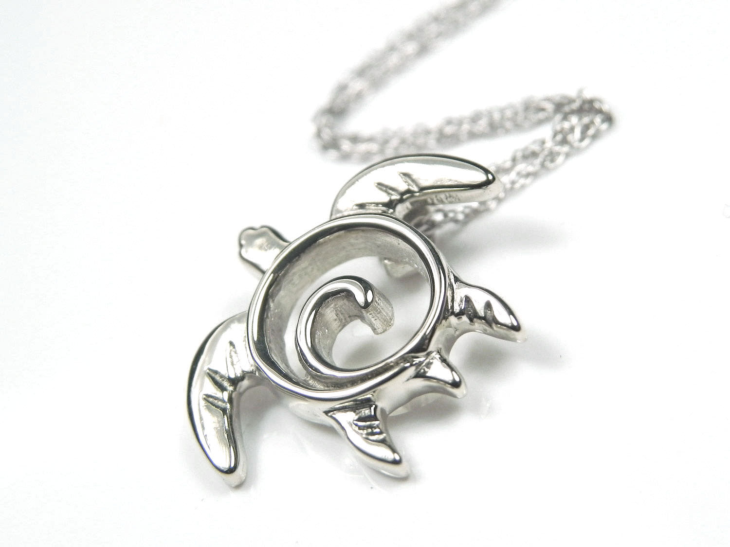 White gold turtle totem pendant necklace fantasea stx white gold turtle totem pendant necklace aloadofball Choice Image