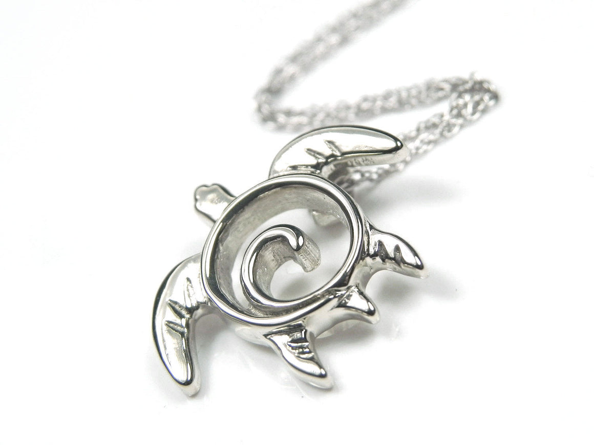 Sea Turtle Necklace Sterling Silver
