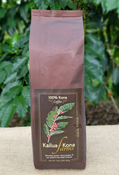 Kailua-Kona Farms 100% Kona Coffee - Dark 1 lb. Whole Bean