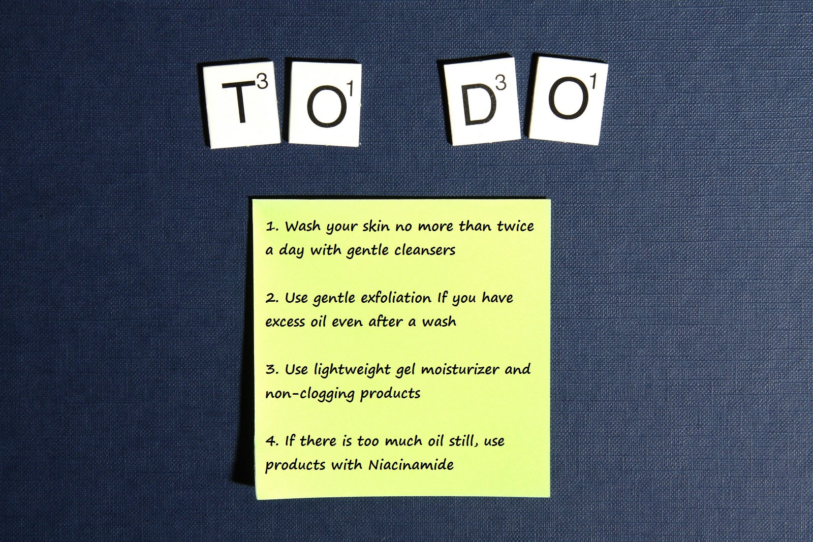 to do list for oily skin