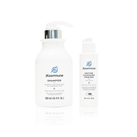 organic shampoo and cleanser JKosmmune SPG beta glucan