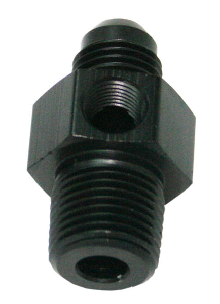 "AF139-06-04BLK - Male NPT to Adapter 1/4"" to -6AN with 1/8"