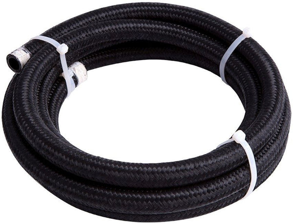 450 Series Black Braided Light Weight Hose -4AN- AF450-10-3M