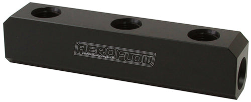 AF457-12BLK - Billet 5 Port Fuel Log -12AN