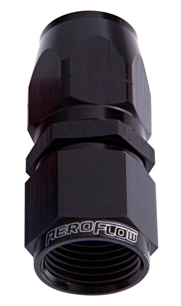 AF501-06BLK - 500 / 550 Series Cutter Style Full Flow Swivel Straight Hose End -6AN