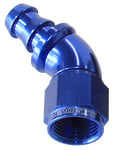 AF512-06 - 510 Series Full Flow Tight Radius Push Lock 45° Hose End -6AN