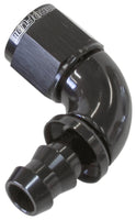 AF513-06BLK - 510 Series Full Flow Tight Radius Push Lock 90° Hose End -6AN