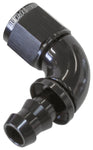 AF513-10BLK - 510 Series Full Flow Tight Radius Push Lock 90° Hose End -10AN