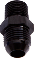 "AF816-08-08BLK - NPT to Straight Male Flare Adapter 1/2"" to -8AN"