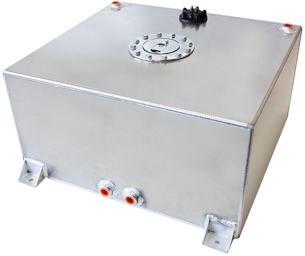 AF85-2151AS - Aluminium 15 Gallon (57L) Fuel Cell with Flat Bottom & Fuel Sender