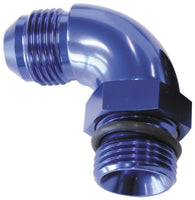AF903-04 - 90° ORB to Male AN Full Flow Adapter -4 ORB to -4AN