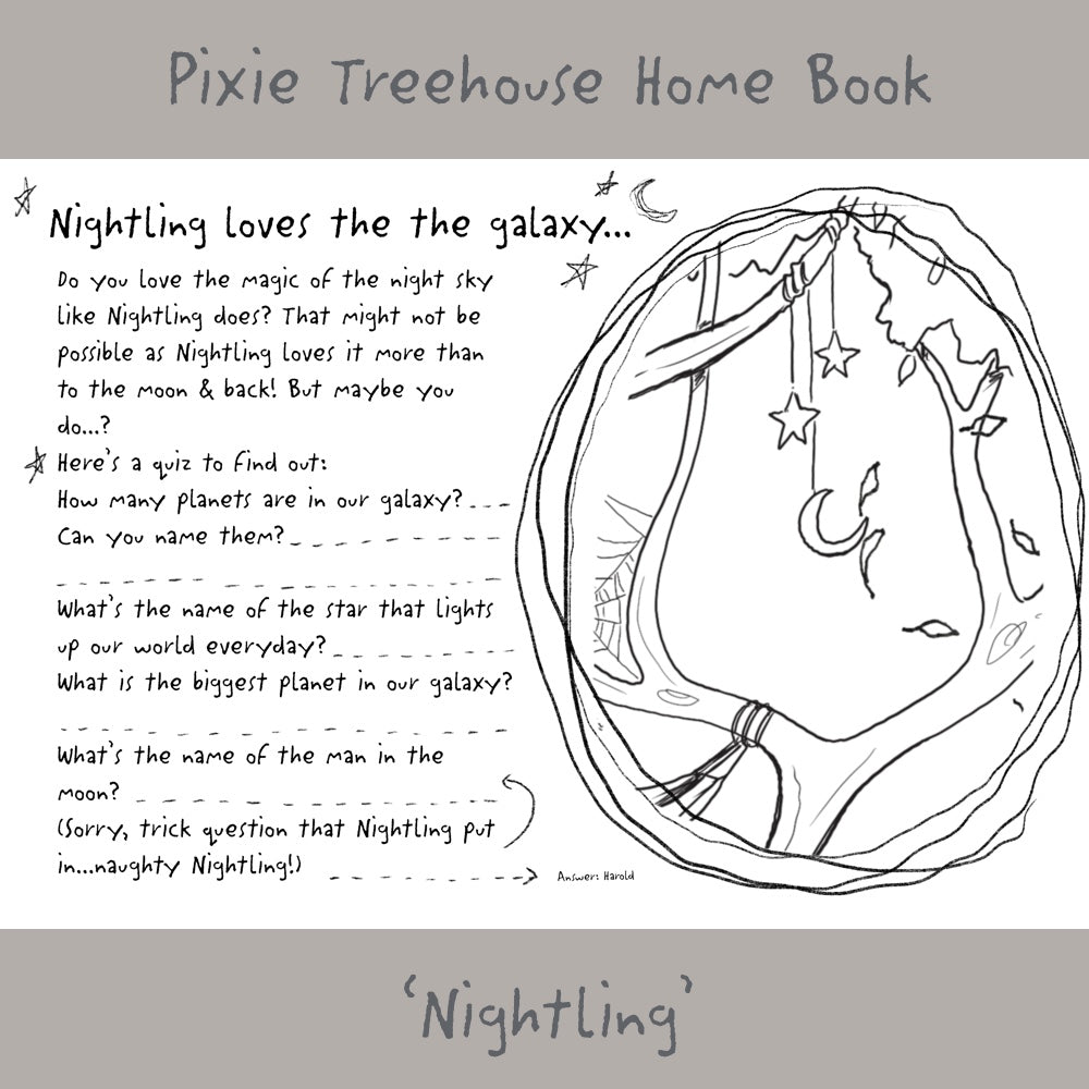 'Wish Pixie Treehouse Home' Book Page - Nightling