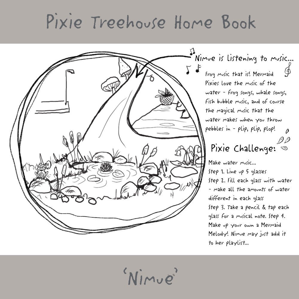 'Wish Pixie Treehouse Home' Book Page - Nimue