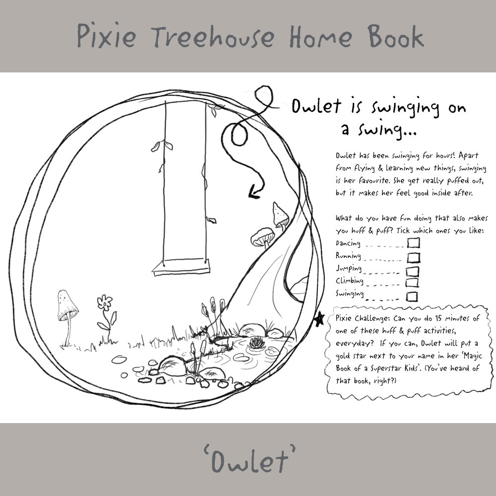 'Wish Pixie Treehouse Home' Book Page - Owlet