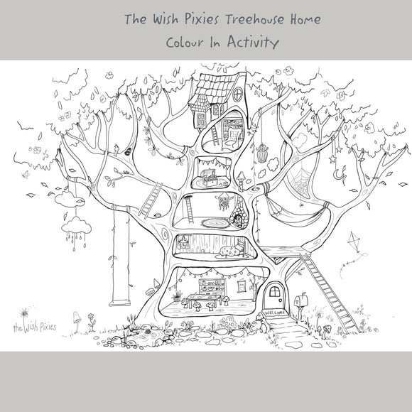 Wish Pixie Treehouse Home' Book Page - Ove