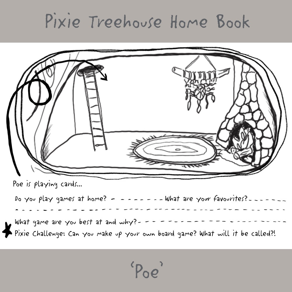 'Wish Pixie Treehouse Home' Book Page - Poe