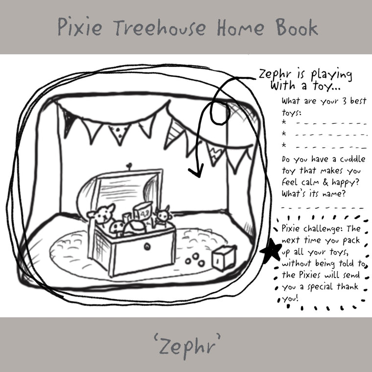 'Wish Pixie Treehouse Home' Book Page - Zephr