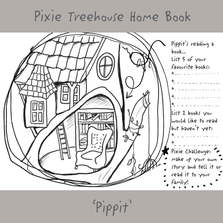 Wish Pixie Treehouse Home' Book Page - Pippit