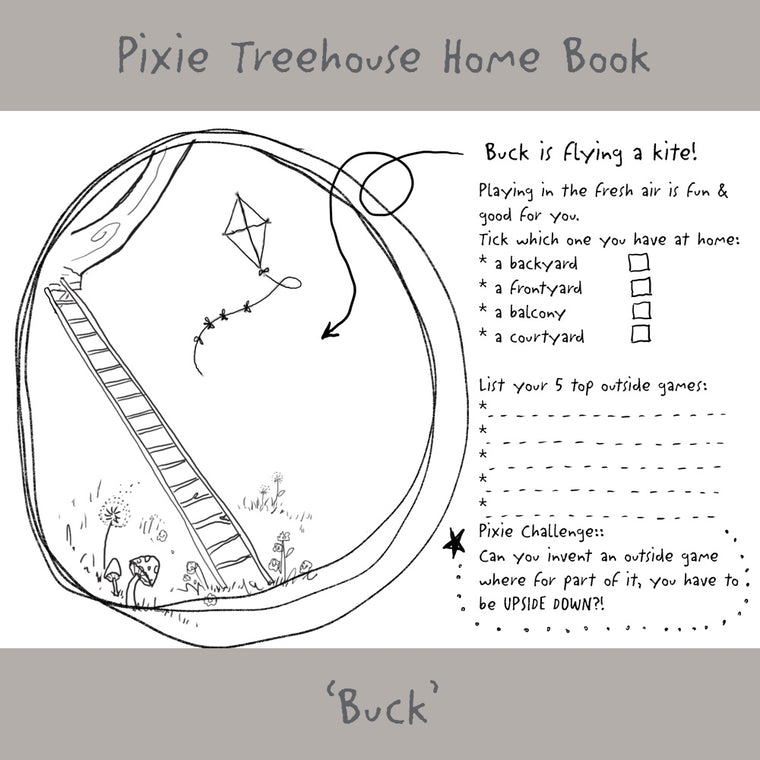 'Wish Pixie Treehouse Home' Book Page - Buck
