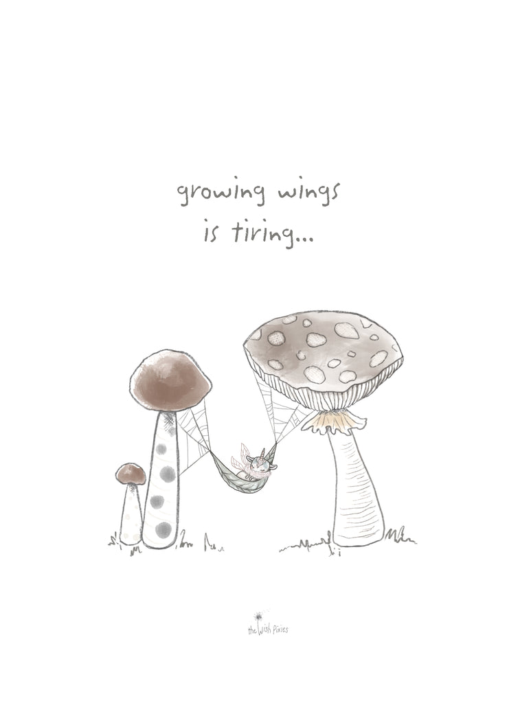 Fabric Wall Art - 'Growing Wings is Tiring' - PRE-ORDER