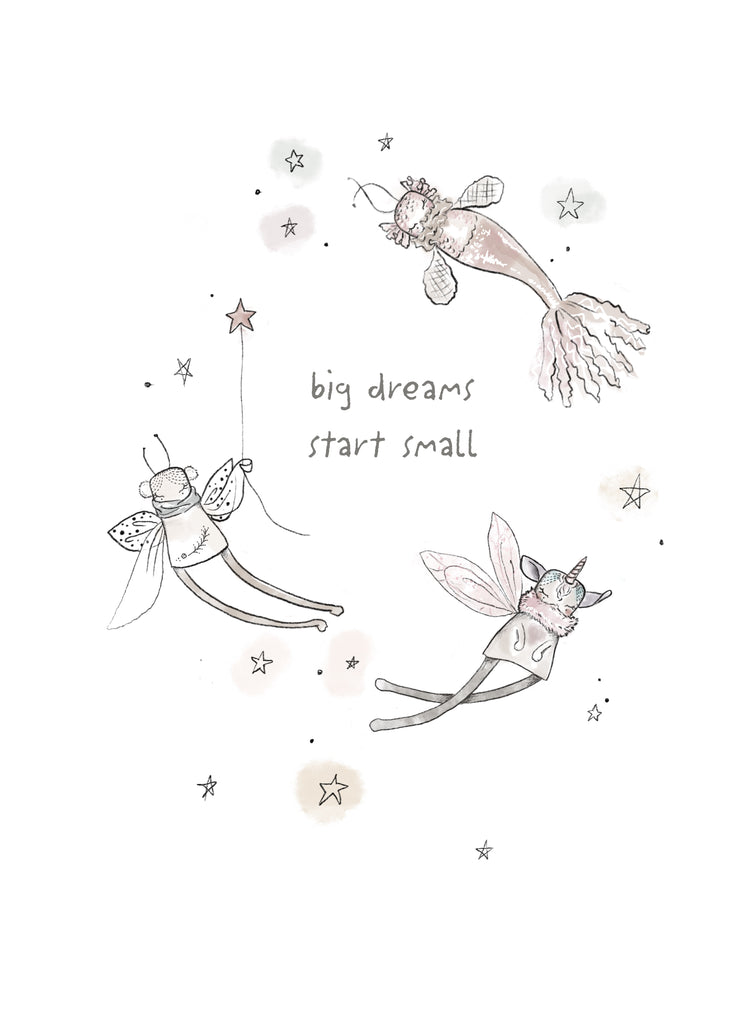 Fabric Wall Art - 'Big Dreams Start Small'