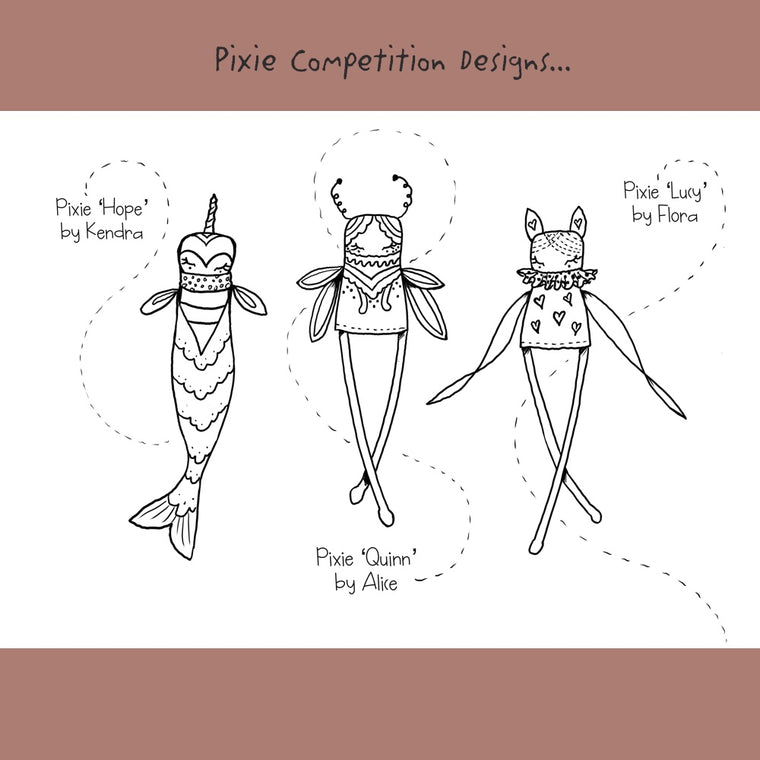 Pixie Colouring Page - Pixie Competition Designs