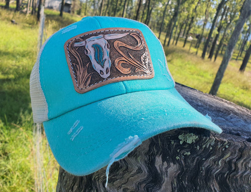Cowskull Pony Tail Hat