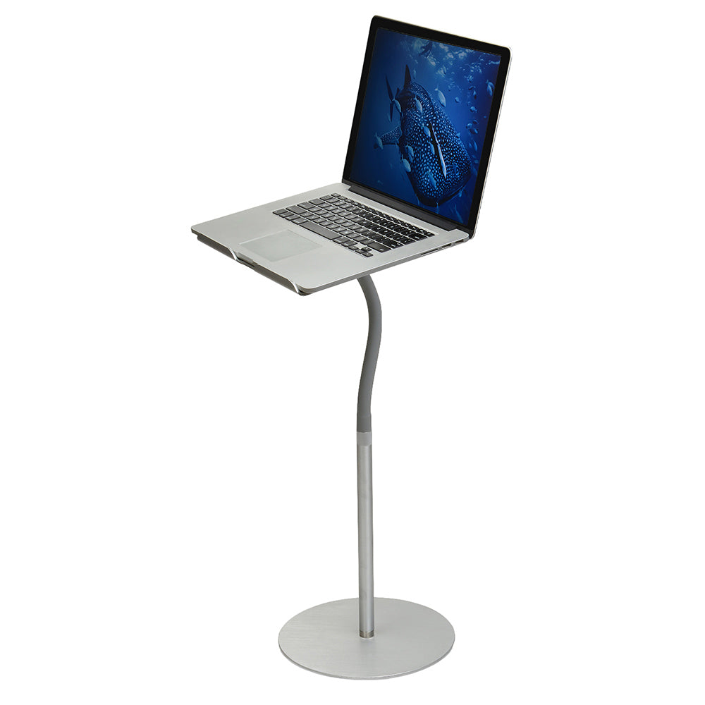 Flexible Aluminum Universal Laptop Stand 24 Tall FLEXTAND Deputy
