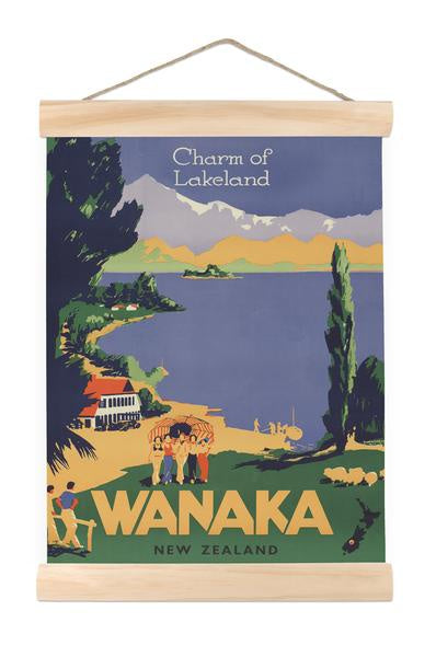 Wanaka, charm of lake land- Mini wall chart