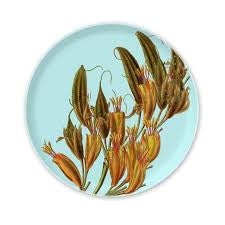 Bamboo Plate - Flax Flower