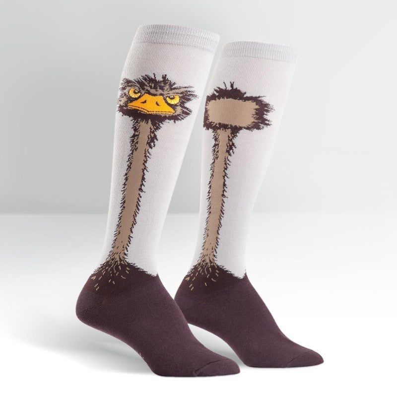 Female knee socks-ostrich