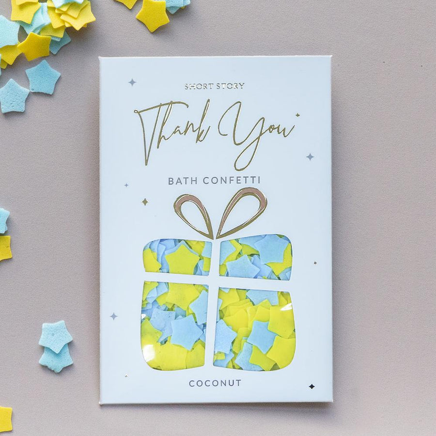 Bath Confetti Card - Thank you