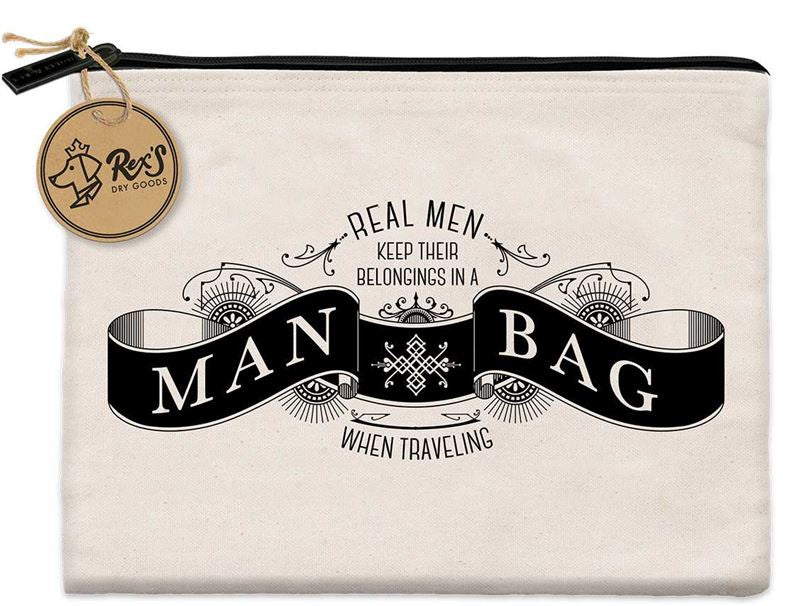 Man Bag Zippered Canvas Bag