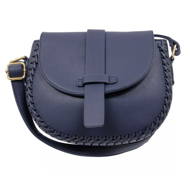 Jasper Braided X Body Bag - Navy