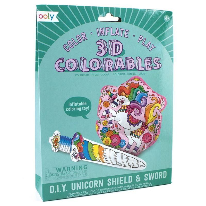 Unicorn Shield & Sword - 3D Colourables